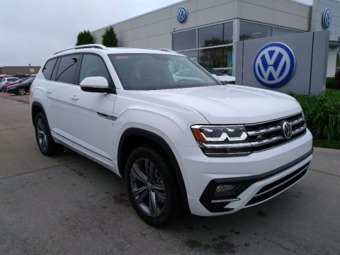 Pure White Volkswagen Atlas SEL R-Line 4Motion.  Click to enlarge.