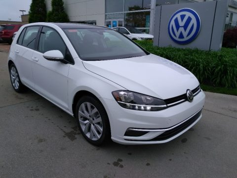 Pure White Volkswagen Golf SE.  Click to enlarge.
