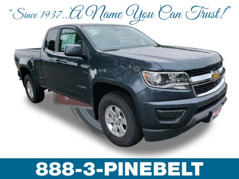 Shadow Gray Metallic Chevrolet Colorado WT Extended Cab.  Click to enlarge.