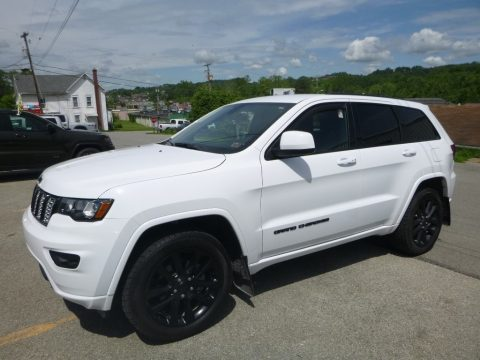 Bright White Jeep Grand Cherokee Laredo 4x4.  Click to enlarge.