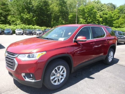 Cajun Red Tintcoat Chevrolet Traverse LT AWD.  Click to enlarge.