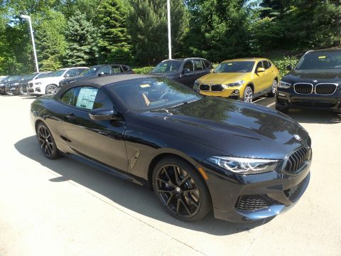 Carbon Black Metallic BMW 8 Series 850i xDrive Convertible.  Click to enlarge.