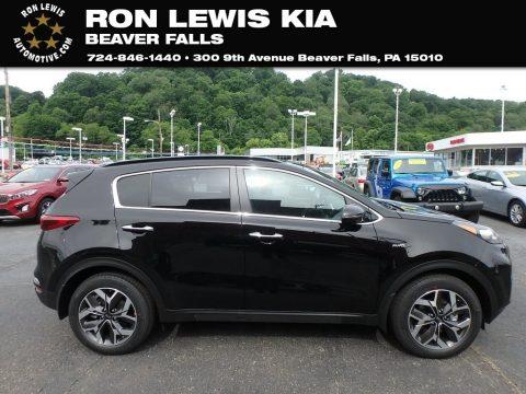 Black Cherry Kia Sportage EX AWD.  Click to enlarge.