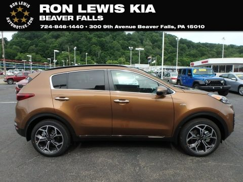 Burnished Copper Kia Sportage SX Turbo AWD.  Click to enlarge.