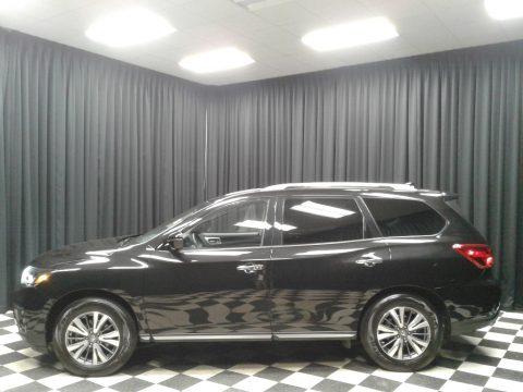 Magnetic Black Pearl Nissan Pathfinder SV.  Click to enlarge.