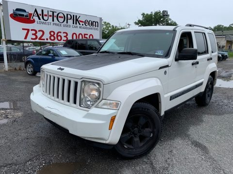 Stone White Jeep Liberty Sport 4x4.  Click to enlarge.