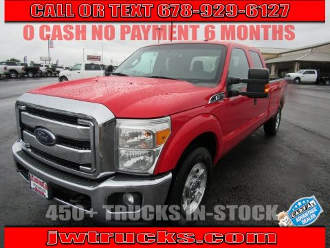 Race Red Ford F250 Super Duty XLT Crew Cab.  Click to enlarge.
