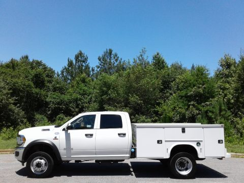 Bright White Ram 4500 Tradesman Crew Cab 4x4 Chassis.  Click to enlarge.