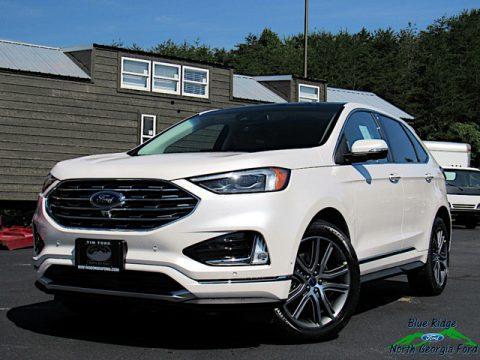 White Platinum Ford Edge Titanium AWD.  Click to enlarge.
