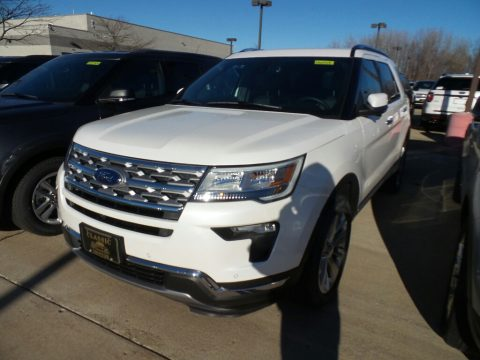 White Platinum Ford Explorer Limited 4WD.  Click to enlarge.