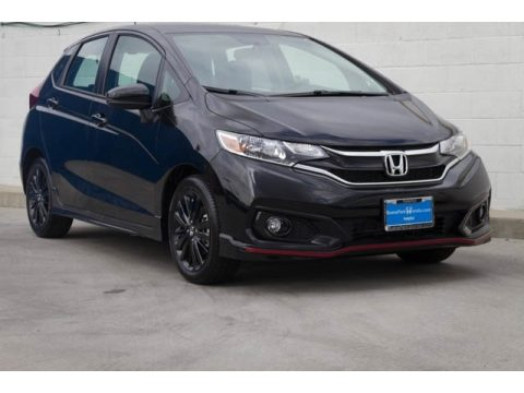 Crystal Black Pearl Honda Fit Sport.  Click to enlarge.