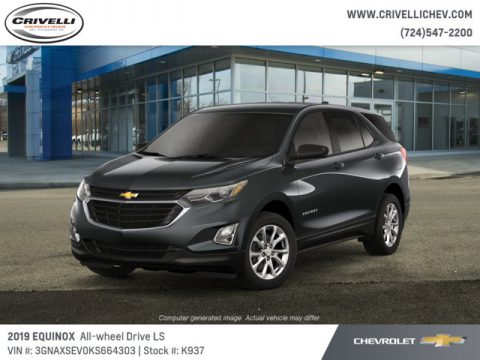 Nightfall Gray Metallic Chevrolet Equinox LS AWD.  Click to enlarge.