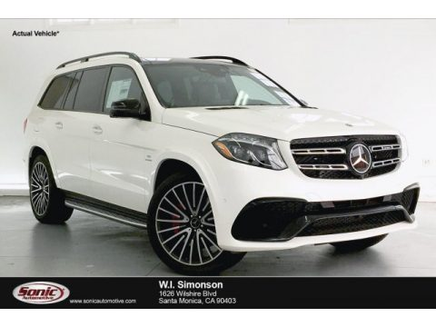 designo Diamond White Metallic Mercedes-Benz GLS 63 AMG 4Matic.  Click to enlarge.