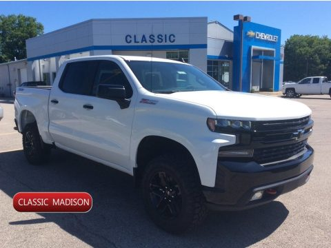 Summit White Chevrolet Silverado 1500 LT Z71 Trail Boss Crew Cab 4WD.  Click to enlarge.
