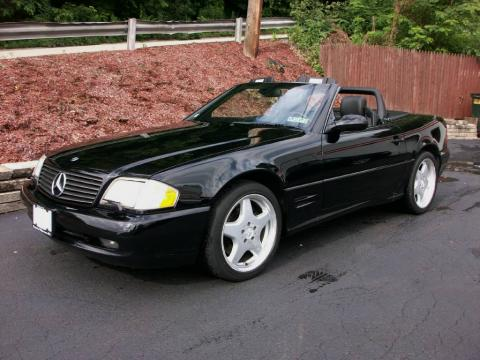 Black 2001 Mercedes-Benz SL 500 Roadster with Black interior Black