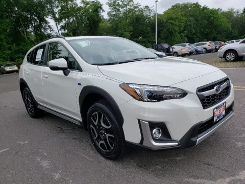 Crystal White Pearl Subaru Crosstrek Hybrid.  Click to enlarge.