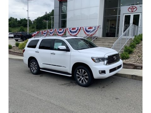 Super White Toyota Sequoia Limited 4x4.  Click to enlarge.