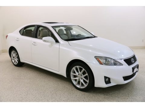Starfire White Pearl Lexus IS 250 AWD.  Click to enlarge.