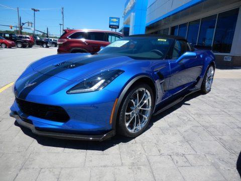 Elkhart Lake Blue Metallic Chevrolet Corvette Grand Sport Convertible.  Click to enlarge.
