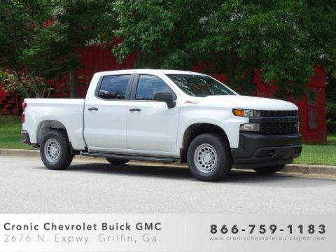 Summit White Chevrolet Silverado 1500 WT Crew Cab 4WD.  Click to enlarge.
