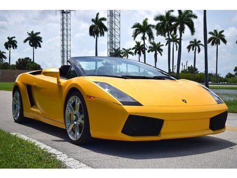 Giallo Midas Lamborghini Gallardo Spyder E-Gear.  Click to enlarge.