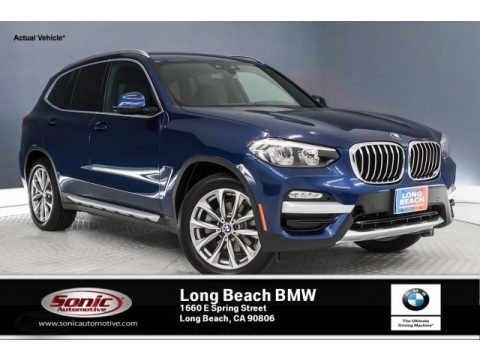 Phytonic Blue Metallic BMW X3 sDrive30i.  Click to enlarge.