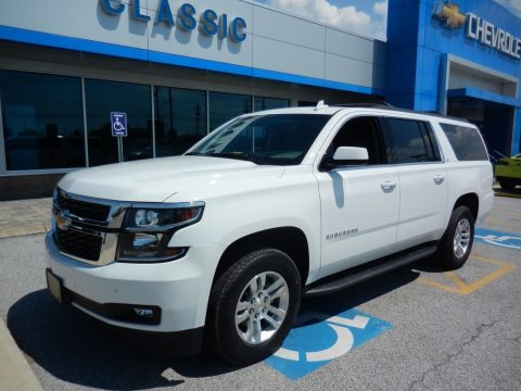 Summit White Chevrolet Suburban LT 4WD.  Click to enlarge.