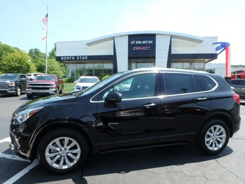 Ebony Twilight Metallic Buick Envision Essence AWD.  Click to enlarge.