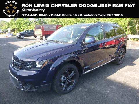 Contusion Blue Pearl Dodge Journey Crossroad AWD.  Click to enlarge.