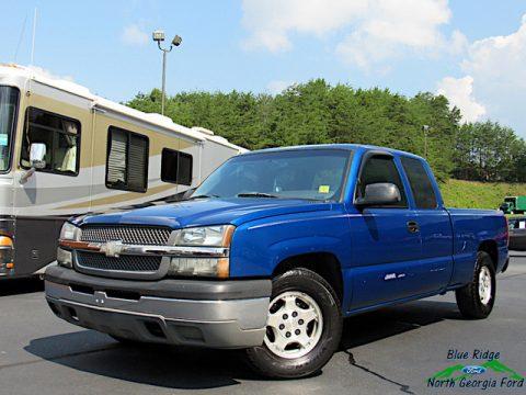 Arrival Blue Metallic Chevrolet Silverado 1500 Extended Cab.  Click to enlarge.
