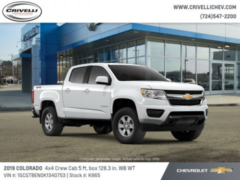 Summit White Chevrolet Colorado WT Crew Cab 4x4.  Click to enlarge.