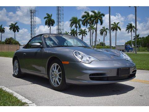 Seal Grey Metallic Porsche 911 Carrera Cabriolet.  Click to enlarge.
