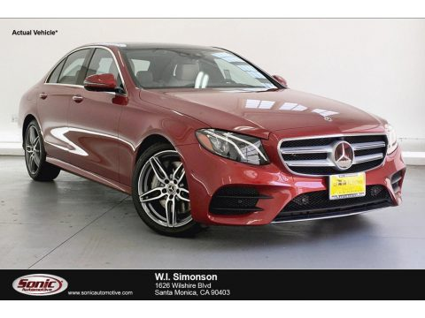 designo Cardinal Red Metallic Mercedes-Benz E 300 Sedan.  Click to enlarge.