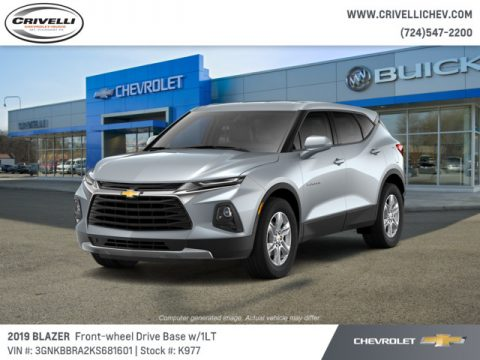 Silver Ice Metallic Chevrolet Blazer 2.5L Cloth.  Click to enlarge.