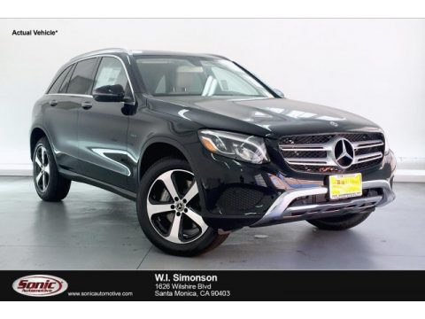 Black Mercedes-Benz GLC 350e 4Matic.  Click to enlarge.