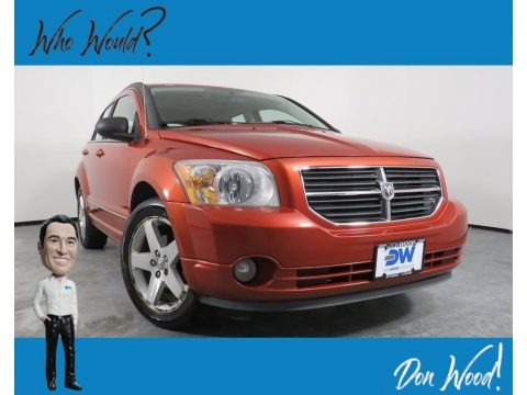Sunburst Orange Pearl Dodge Caliber R/T AWD.  Click to enlarge.