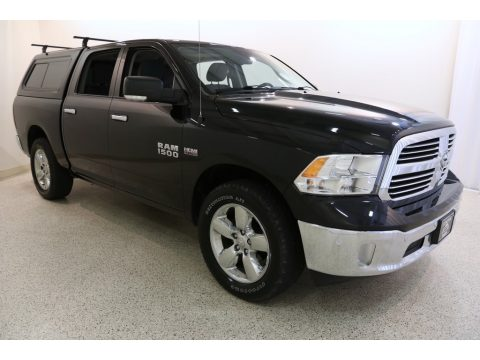 Brilliant Black Crystal Pearl Ram 1500 Big Horn Crew Cab 4x4.  Click to enlarge.