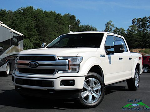 White Platinum Ford F150 Platinum SuperCrew 4x4.  Click to enlarge.