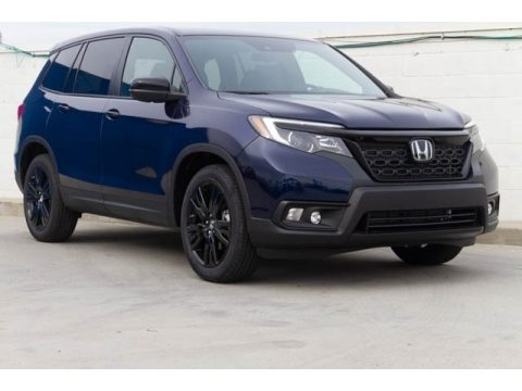 Obsidian Blue Pearl Honda Passport Sport.  Click to enlarge.