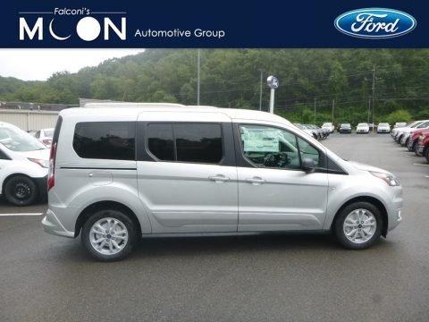 Silver Metallic Ford Transit Connect XLT Passenger Wagon.  Click to enlarge.
