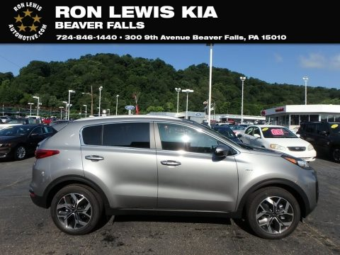 Steel Gray Kia Sportage EX AWD.  Click to enlarge.