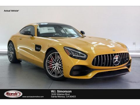 AMG Solarbeam Yellow Metallic Mercedes-Benz AMG GT C Coupe.  Click to enlarge.