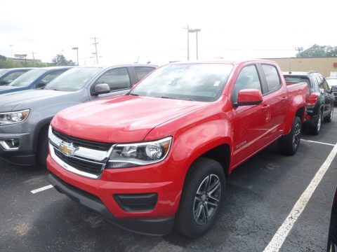 Red Hot Chevrolet Colorado WT Crew Cab 4x4.  Click to enlarge.