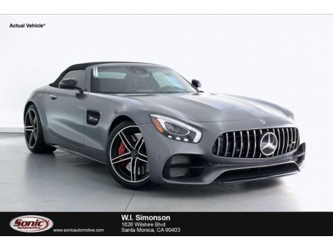 designo Selenite Grey Magno (Matte) Mercedes-Benz AMG GT C Roadster.  Click to enlarge.