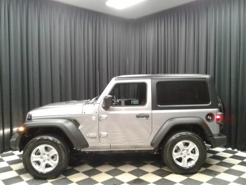 Billet Silver Metallic Jeep Wrangler Sport 4x4.  Click to enlarge.