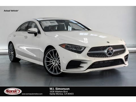 designo Diamond White Metallic Mercedes-Benz CLS 450 Coupe.  Click to enlarge.