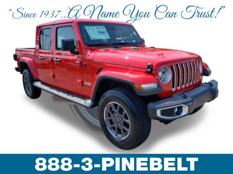 Firecracker Red Jeep Gladiator Overland 4x4.  Click to enlarge.