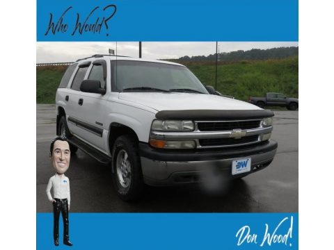 Summit White Chevrolet Tahoe LS 4x4.  Click to enlarge.
