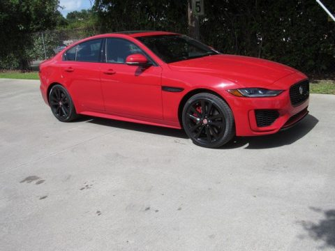 Caldera Red Jaguar XE R-Dynamic S AWD.  Click to enlarge.