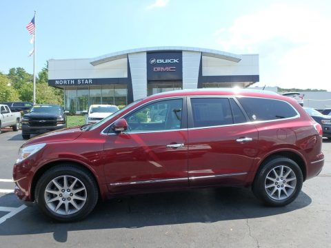 Crimson Red Tintcoat Buick Enclave Leather AWD.  Click to enlarge.
